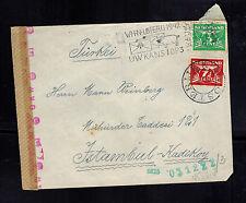1942 Apeldorn Netherlands Cover to Istanbul Turkey Weinberg Julius Meyer Judaica