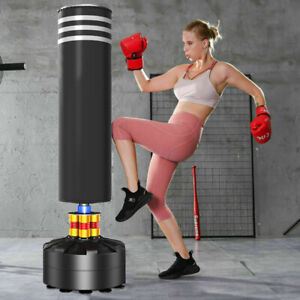 5.7ft Punch Bag Boxing Punching Bag Pads Heavy Duty Standing Kick for Kids Adult