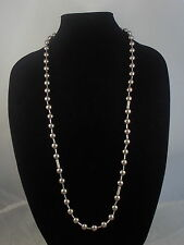 Kenneth Cole New York Silver MODERN PEARL Gray Glass Pearl Long Beaded Necklace