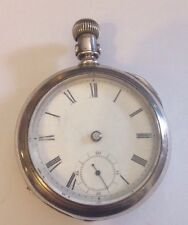 AMERICAN WALTHAM STERLING POCKET WATCH NEWPORT COIN SILVER CASE 18s 1884 2301359
