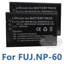 for Fuji 2x Battery Np-60 Pentax D-l12 Kodak Klic-5000 Olympus Li20b Casio Np-30