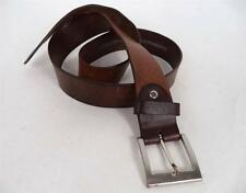 MENS QUALITY VINTAGE CHUNKY BROWN  WORN IN WESTERN BUCKLE BELT indie mod