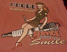 Mens DODGE Service with a Smile Graphic T-shirt Sz XXL Vintage Look