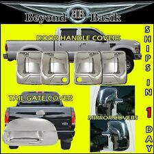 99-07 Super Duty Chrome Door Handle Covers 2KH +TailGate+Mirror Covers Towing