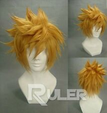 Short Kingdom Hearts Birth by Sleep-Ventus Golden Anime Cosplay wig + hairnet