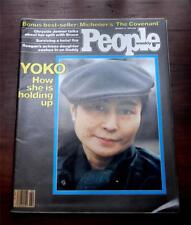 People Magazine  Janurary 12 1981  Yoko How Is She Holding  John Lennon Ex.Cond.
