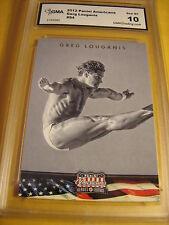GREG LOUGANIS DIVING 2012 PANINI AMERICANA  # 86 GRADED 10   L@@@K