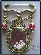 Brooch ~Frosty Pendant Charm & Crystals~
