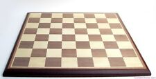 "INLAID WOOD CHESSBOARD, 17¼ x 17¼"", WITH ~2"" SQUARES (399)"