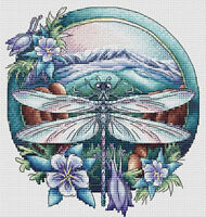 Holidays Animals/Nature Cross Stitch Pattern,Dragonfly Summer Insect Embroidery