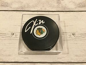 Jordin Tootoo Signed Chicago Blackhawks Hockey Puck Autographed c