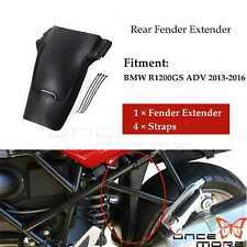 Black Rear Tire Hugger Fender Mudguard Extensions For BMW R1200GS ADV 2013-2016