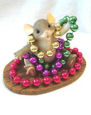 Charming Tails Mardi Gras Mouse (Mouse)[Numbered Ltd Ed][Retired]