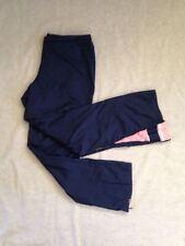 Nike Womens Navy Blue Pink Polyester Cotton Lining Athletic Pants Large Sza
