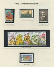 U.S. 1996 Commemorative Year Set, 68 stamps (6 scans) COMPLETE, mNH Fine