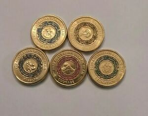 2020 AUSTRALIAN OLYMPIC $2 COIN SET all 5 coins