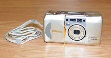 Nikon Lite Touch Zoom 120 ED QD 35mm Point & Shoot Film Camera **UNTESTED**