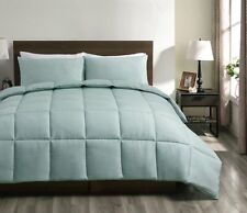 100% Polyester Microfiber Aqua Green Down Alternative Comforter Set- Queen