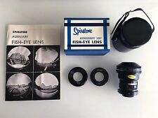 Spiratone Auxiliary (0.15X) 180 Fish- Eye Lens NEW BOXED Collectors Condition