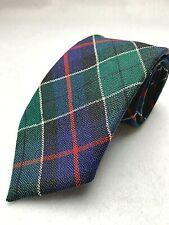 Vintage Scottish Leslie Tartan Men's 100% Wool Red Green Blue Made in Scotland