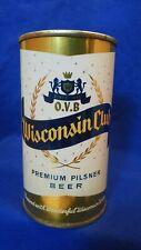 WISCONSIN CLUB PREMIUM PILSNER BEER 12 FLUID OZ FLAT TOP CAN ~ MONROE ~ STUNNING