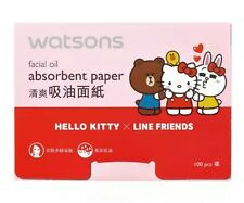HELLO KITTY Facial Oil Blotting paper (100 sheets) for oil control Fast Shipping