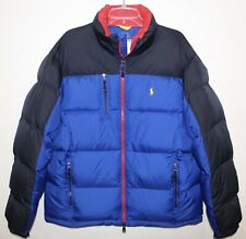 Polo Ralph Lauren Mens Size M Blue Black Red Down Ski Jacket NWT Size M