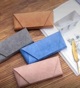 Fashion Cute Stitch soft Shell Eyeglass Case Box PU Leather Protector Cover
