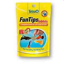 Tetra Fun Tips 20 Tabs Stick To Glass Fish Food Tropical Aquarium Food Treat