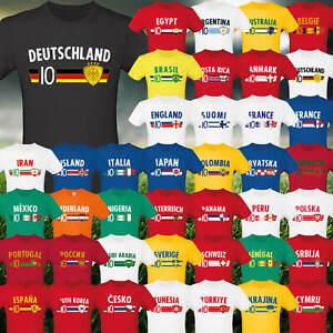 Fußball EM T-Shirt Fan Artikel Nummer 10 Europameisterschaft 2021 Länder Trikot