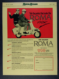 1961 Raleigh ROMA Scooter vintage print Ad
