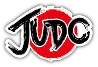 Judo Logo Car Bumper Sticker Decal 5'' x 3''