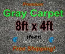 8' x 4' GRAY CARPET for Car Sub Speaker Box Cabinet Road Case Trunk Liner Grey
