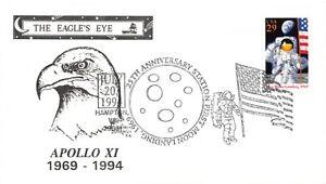 APOLLO 11 25th ANNIV FIRST MOON LANDING HAMPTON VA FDUSE DUNAHUE CACHET SC#2841a