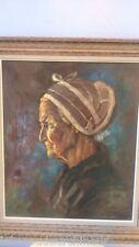 Portrait vielle dame signé. Old lady portrait signed REBIERRE Marc, *1934