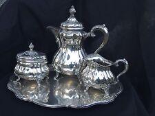 Stunning! 4 pc Sterling Silver Tea Service - Wilhelm Binder 65 ozt