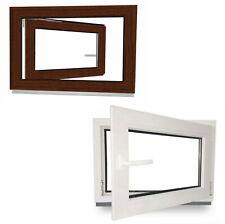 Kellerfenster Kunststoff Fenster Garagenfenster Mahagoni Braun 2 Fach verglast