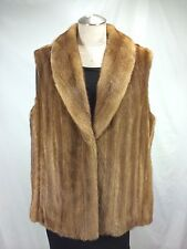 FREE SHIPG EXTREME LUXURIOUS WARM LADY REAL U S GOLDEN FEMALE MINK LET OUT VEST