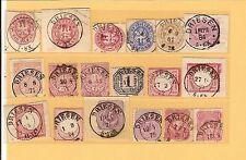Pr Vor / DRIESEN 23 feinst-Kabinett-Stücke, vorph. K2 a. Blanko-Briefstück
