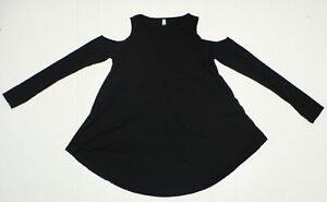 Lyss Loo In Good Company Cold Shoulder Long Sleeve Top T2042 Black - S