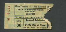 1973 Genesis concert ticket stub Cleveland Selling England By The Pound Gabriel