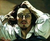 The Desperate Man by Gustave Courbet, art canvas print