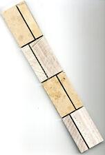Jura Marmor Mosaik Bordüre Fliese Platte grau beige, 4,7 x 30 x 0,8cm