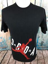 JORDAN Nike Air Black Red White Jumpman #23 Big Logo Basketball T-Shirt Men's L