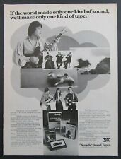 "1975 3M ""Scotch"" Brand Tapes 8-Track & Cassette Magazine Ad"