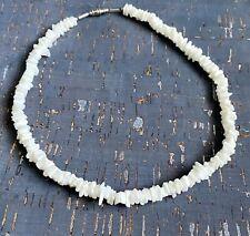 "White Hawaiian 17"" Chipped Puka Sea Shell Necklace Surfer Choker"