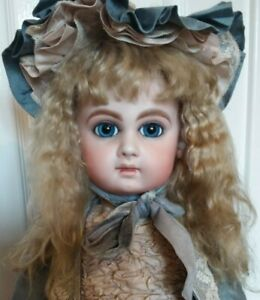 GORGEOUS 21 INCH BABS & STAN TOMINSON REPRODUCTION JUMEAU 1995 APPLIED EARS