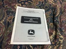 "JOHN DEERE SNOWTHROWER FOR 2210 COMPACT 46"" OPERATORS MANUAL-Part #: OMM147923"