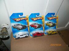 3 2009 Hot Wheels  70 BUICK GSX 1 WHITE, 1 YELLOW, 1 RED w/Chrome 5 Spok
