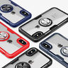 For iPhone XS Max XR X 7 8 Plus Magnetic Adsorption Metal Ring Holder Case Cover